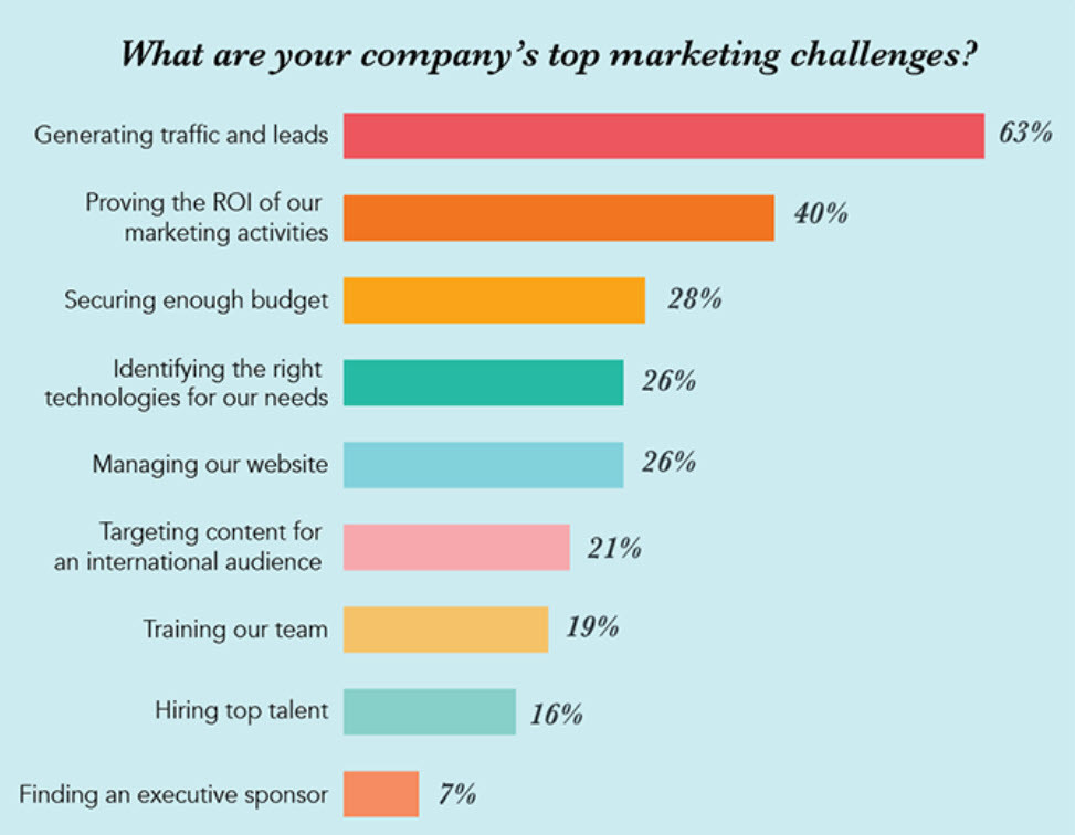 the company top marketing challenges